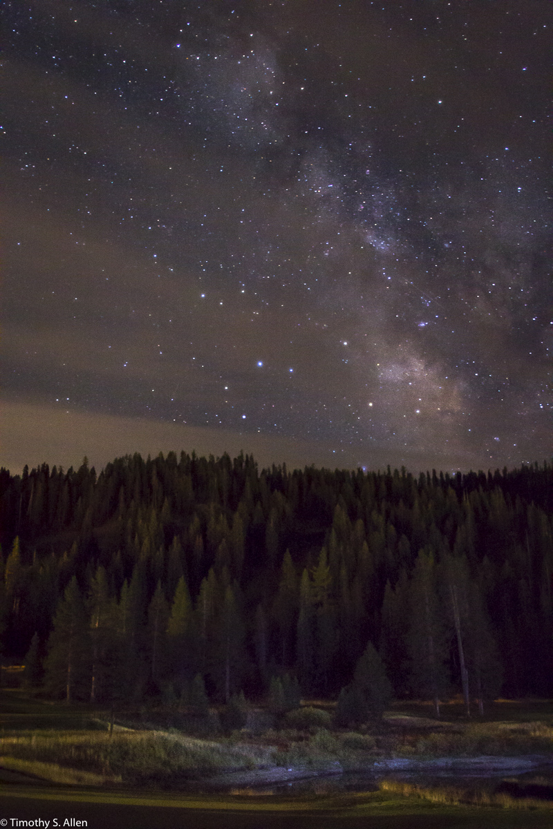Resort at Squaw Creek, Lake, Tahoe, CA, USA 8-16-2015 f/3.5, 20 sec, ISO 3200, 22mm, The foreground was light painted with a powerful flashlight.