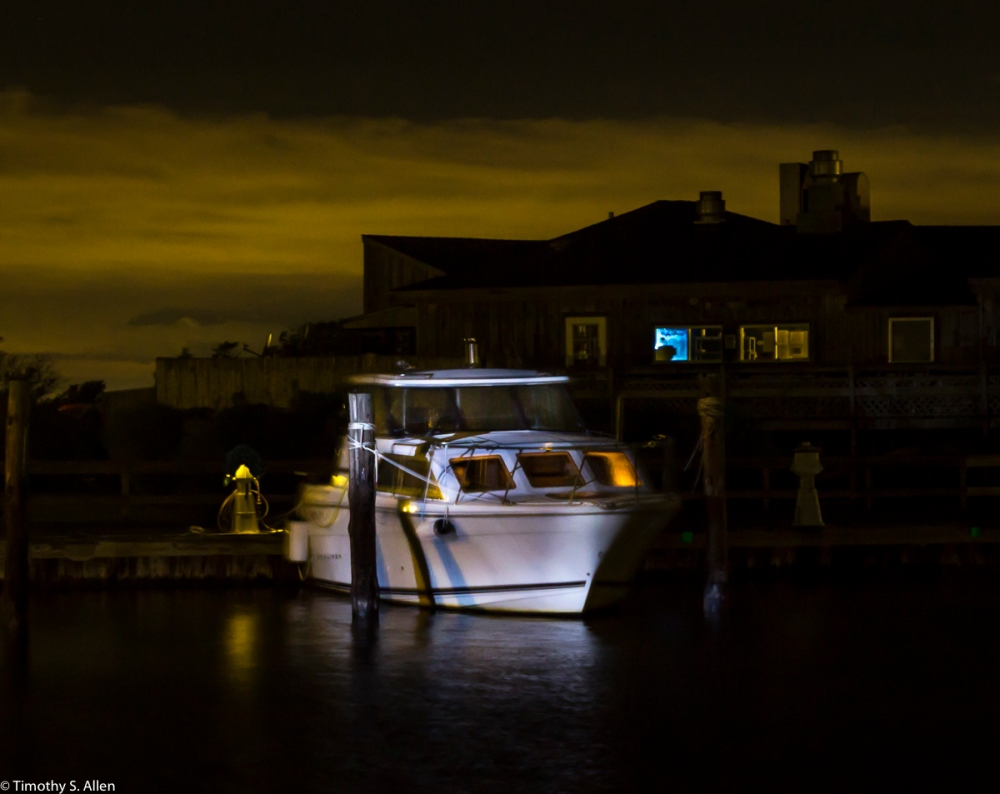 Jim and Diane's Boat Photographed at Watch Hill Marina, Fire Island National Seashore, NY, USA September 13, 2015 Much thanks to Jim for helping with the lighting of his boat The Gracious Lady II.
