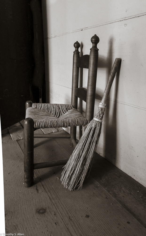Child's Chair, Hartwell Tavern, Minute Man National Historic Park, Lincoln, MA, USA August 29, 2015 For more information on the park, go to http://www.nps.gov/mima/index.htm