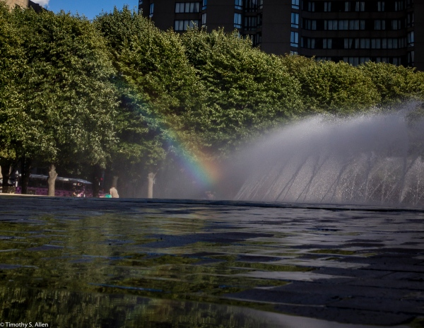 Christian Science Plaza Fountain, Boston, MA, USA August 27, 2015