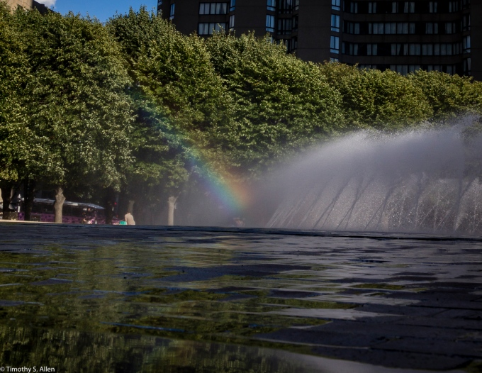 Christian Science Plaza Fountain, Boston, MA, USA August 27, 2015