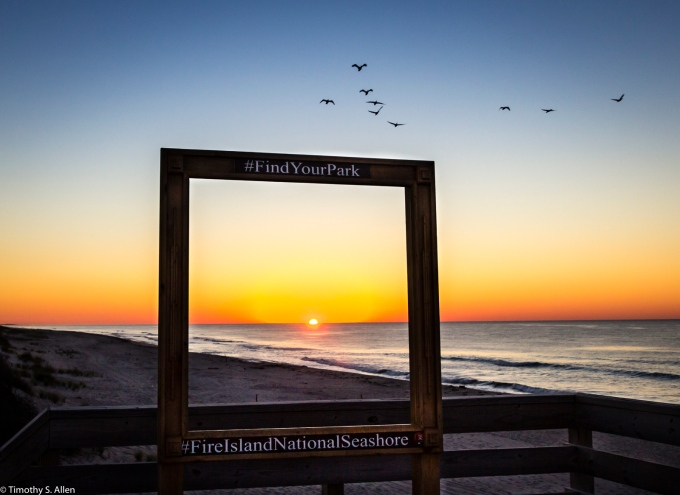 Sunrise over Fire Island National Seashore, Beach at Watch Hill Visitors Center, Fire Island, NY, USA September 15, 2015 This is the last of the Fire Island Series