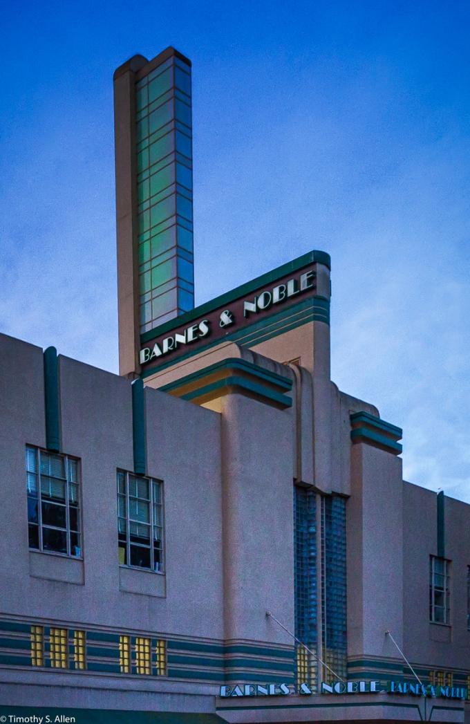 Art Deco Architecture Downtown Santa Rosa, CA, USA October 25, 2015