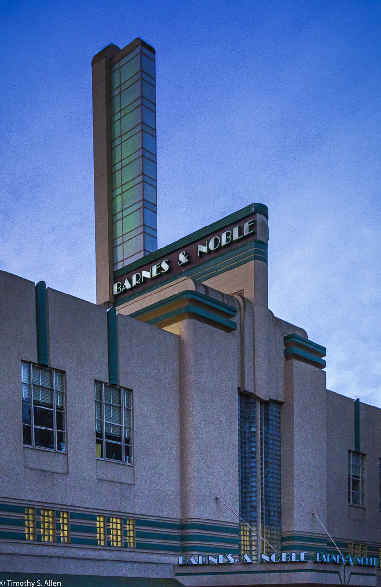 Art Deco Architecture Downtown Santa Rosa, CA, USA October 25, 2015