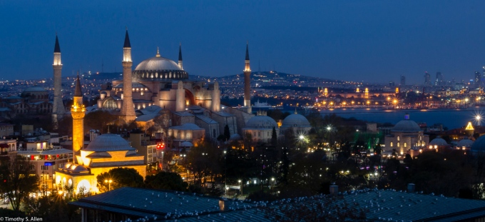 Hagia Sophia and the Bosphorus Istanbul, Turkey November 21, 2015