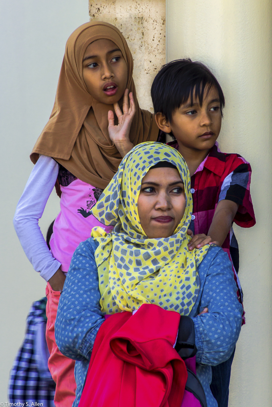 Malaysian Family Visiting Turkey December 6, 2015