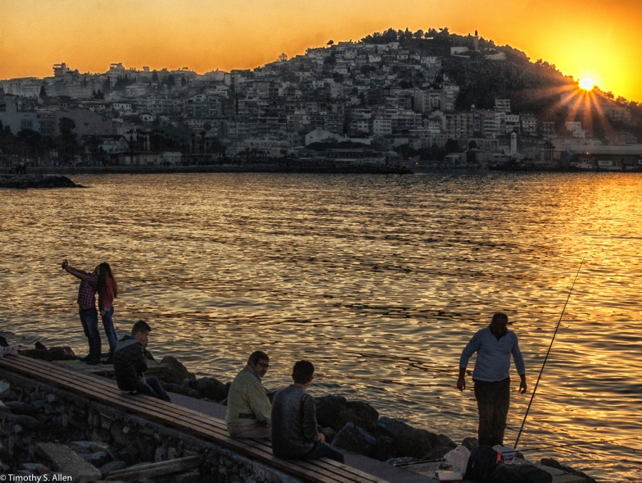 Kusadasi Harbor, Turkey - December 5, 2015