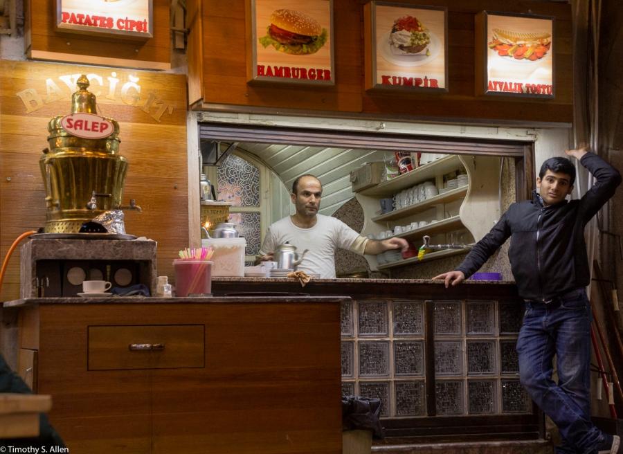Restraunt in the Bazaar Izmir, Turkey December 11, 2015