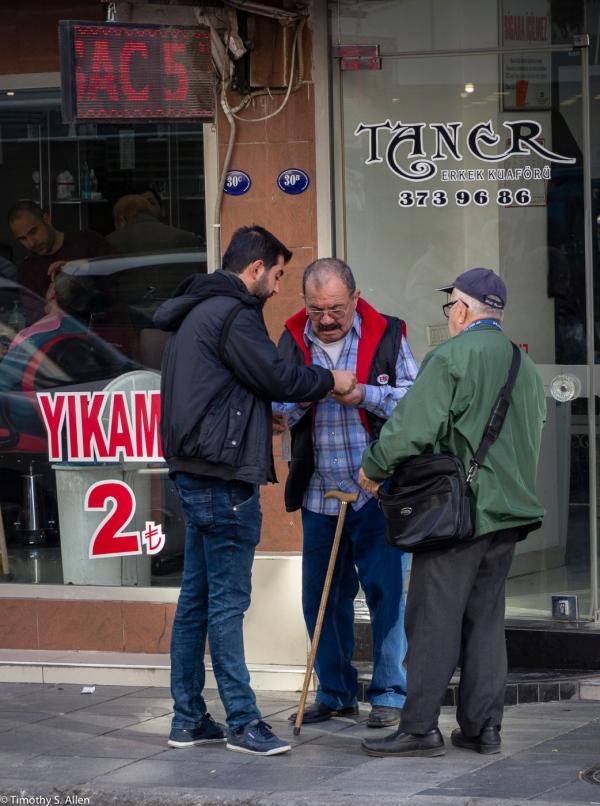 Lottery Tickets Being Purchase on the Street in Izmir, Turkey, December 13, 2015