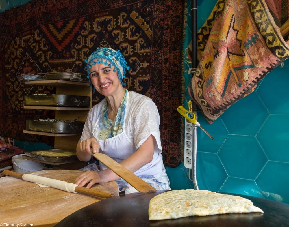 Making Traditional Flat Bread Istanbul, Turkey November 24, 2015