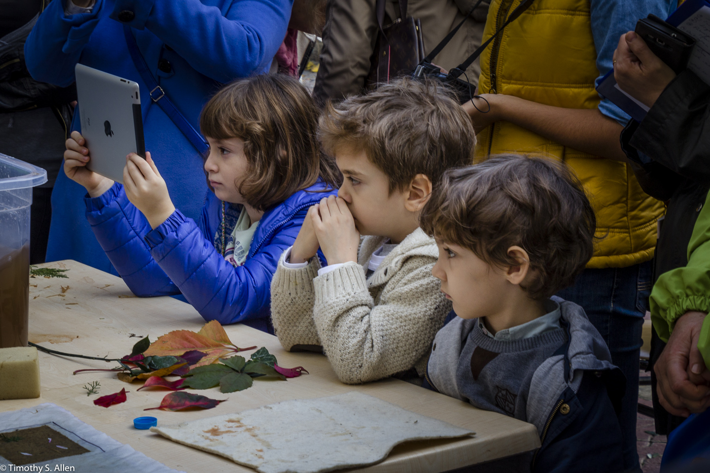 Children Attending the Papermaking Workshop, Museum of Paper and Book Arts by Jane Ingram Allen This Workshop is Part of Allen's Fulbright Specialist Project. Ege University, Izmir, Turkey November 29, 2015