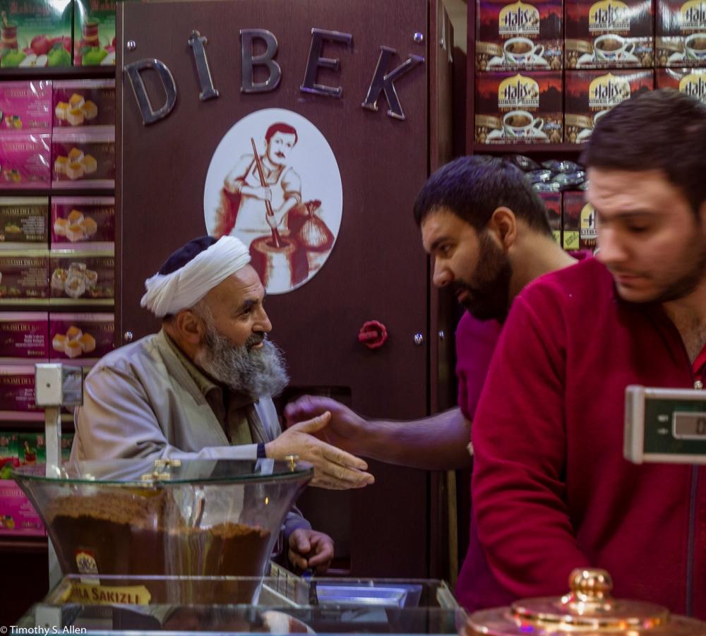 A Turkish Coffee House in the Bazaar - Izmir, Turkey – December 11, 2015