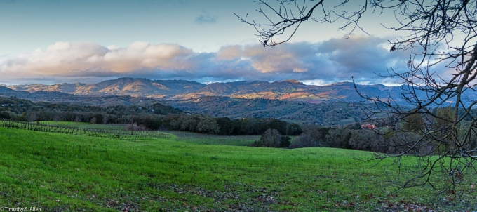 A Landscape View from Sonoma Mountain Road, Sonoma County, California, U.S.A. January 23, 2016