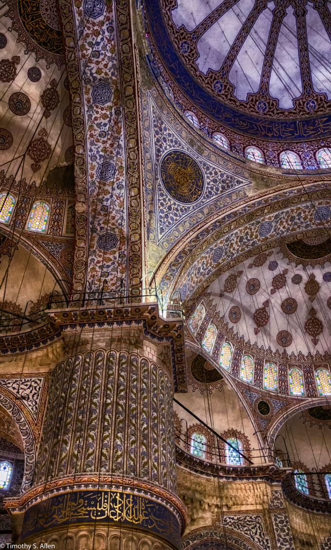 Interior of the Blue Mosque (Sultanahmet Camii in Turkish) Istanbul, Turkey November 21, 2015 http://www.tourmakerturkey.com/blue-mosque.html