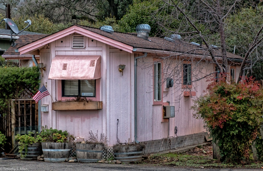 Trailer Park, Highway 12, Boyes Hot Springs, Sonoma County, California, U.S.A. January 14, 2015