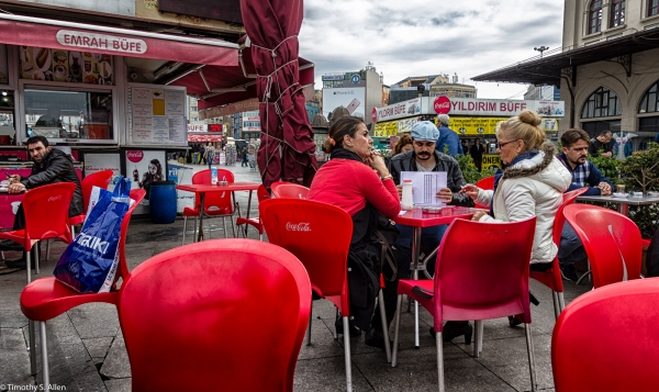 Coca-Cola Cafe on the European Side of Istanbul, Turkey November 23, 2015
