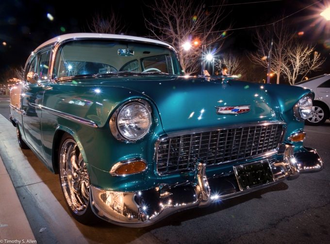 I Was Very Pleased that John Delgado From Palmdale, California Gave Me Permission to Publish This Photograph I Took of His Stunningly Restored Car Last Night on the BLVD in Lancaster, California. February 20, 2016