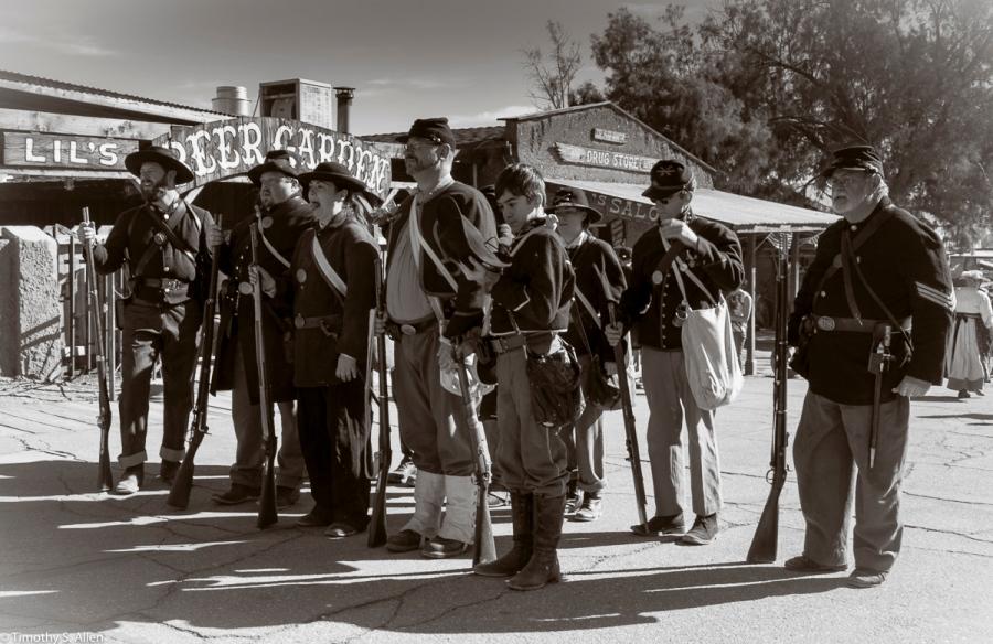 Civil War Reenactment, Calico Ghost Town, California, U.S.A. February 15, 2016