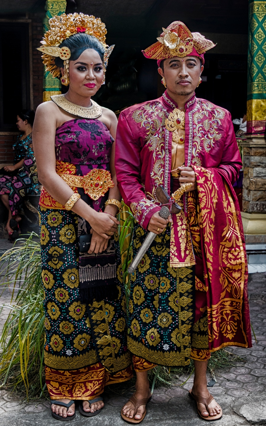Arya & Dewi at Their Wedding Banquette Bali, Indonesia May 3, 2016