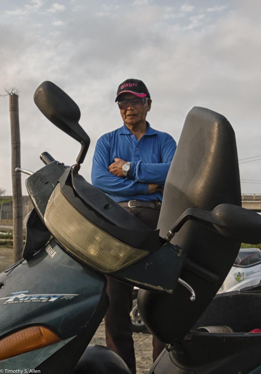 Organizer of the Cheng-long Village Bridge Project. Mr. Tien Is A Taiwanese Language Scholar and Poet. Cheng-Long Wetlands International Environmental Art Project - https://artproject4wetland.wordpress.com - Cheng Long, Yunlin County - April 15, 2016