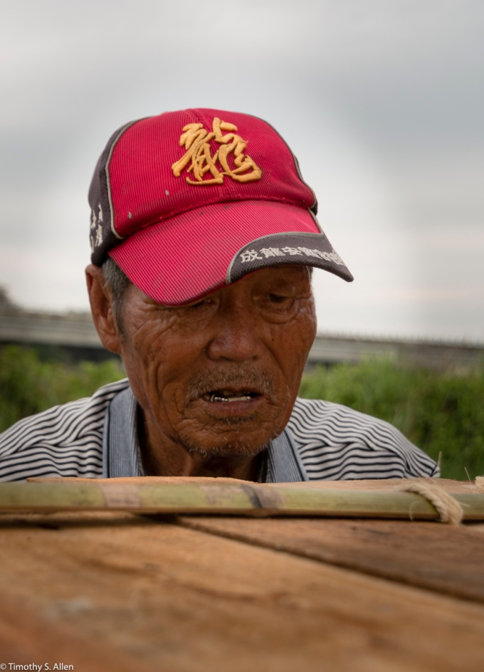 He Is The Other Village Elder Who Has Worked Extensively On The Bridge. Cheng-Long Wetlands International Environmental Art Project - https://artproject4wetland.wordpress.com - Cheng Long, Yunlin County - April 12, 2016