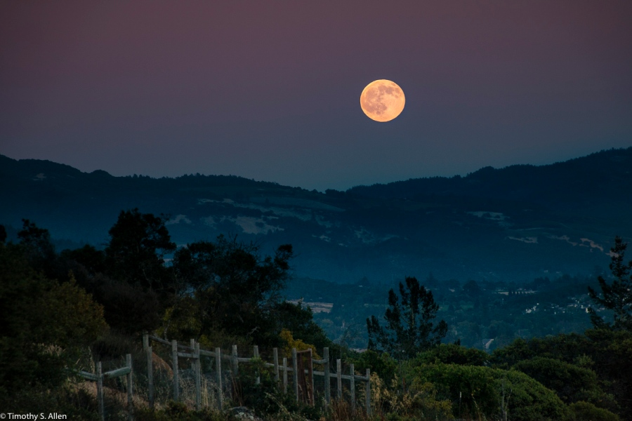 Full Moon Rising Over Santa Rosa Santa Rosa, California, U.S.A. July 19, 2016 For more information on the names for this moon go to https://www.yahoo.com/news/full-moon-july-2016-rises-tonight-see-many-150345025.html