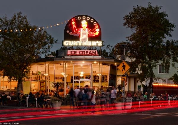 Gunther's Ice Cream 2801 Franklin Blvd. Sacramento, California, U.S.A. July 13, 2016