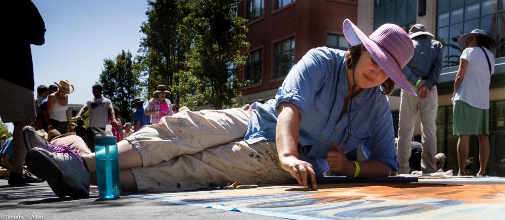 Street Painter, Italian Street Painting, Marin San Rafael, California, U.S.A. June 26, 2016