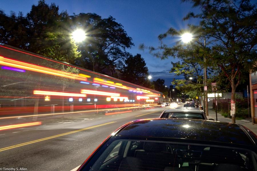 Center Street, Jamaica Plain, MA, U.S.A. August 16, 2016 - HDR