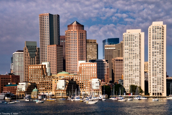 View from Boston Harbor Boston, MA, U.S.A. August 11, 2016