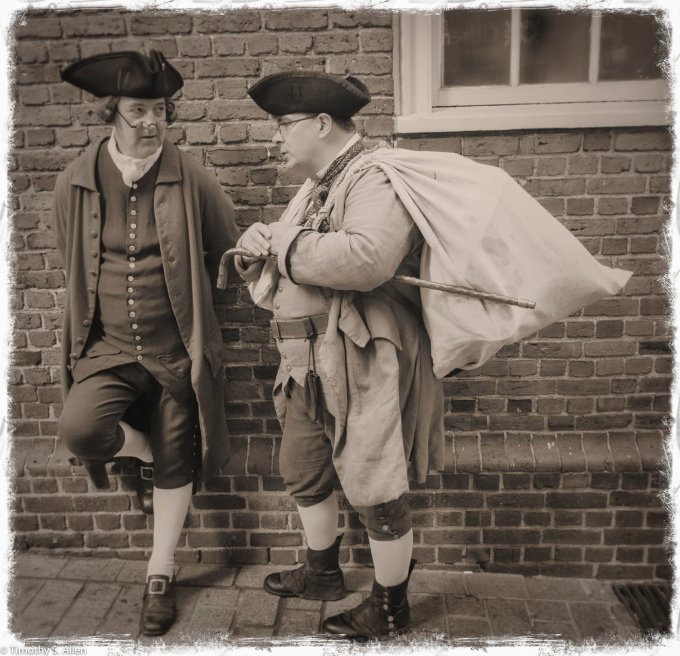 Echoes of the Past - Reenactors at Their Market Place in Front of the Old State House - Boston, MA, U.S.A. August 13, 2016