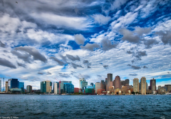 View from Boston Harbor Boston, MA, U.S.A. August 17, 2016
