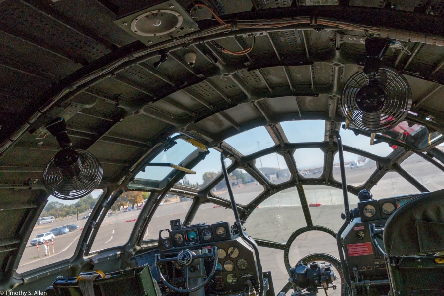 Cockpit of the premiere bomber of World War II, FIFI is the last flying B-29 in existence. The Commemorative Air Force Visits Mather Field, Sacramento, CA, U.S.A. September 28, 2016