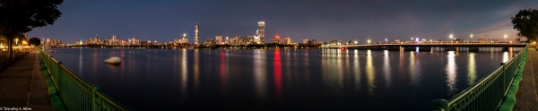 An Evening View from Cambridge Boston, MA, U.S.A. September 3, 2016