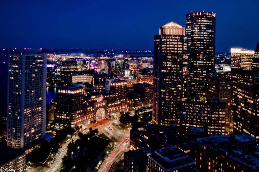 Boston View from Boston's Custom House Boston, MA., U.S.A. September 8, 2016