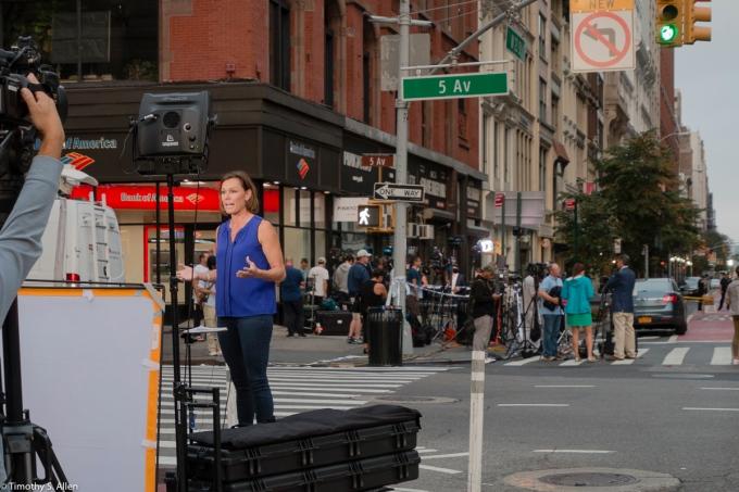 WNBC Reporter 5th Ave. & W. 23rd St. New York City 7:01 am Sunday, September 18, 2016