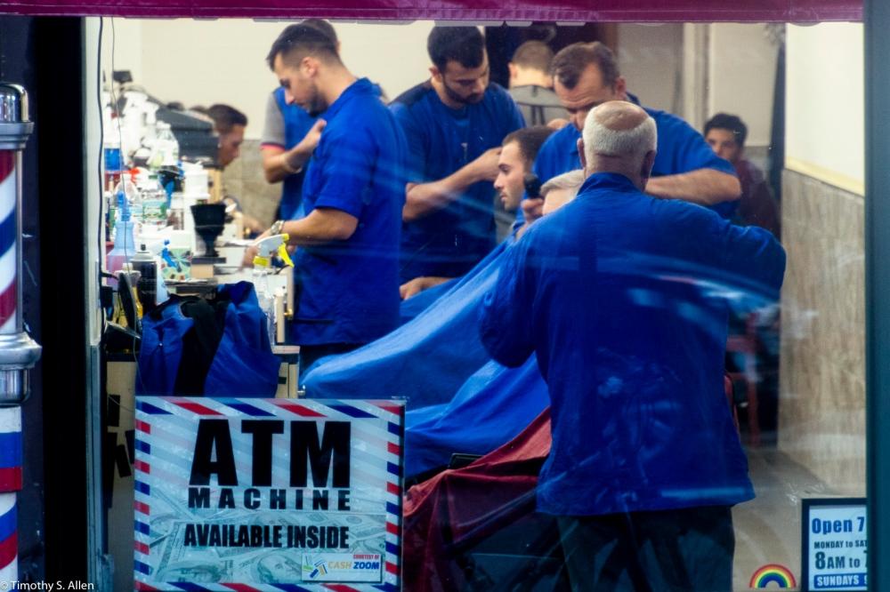 Barber Shop, Midtown Manhattan, New York City September 14, 2016