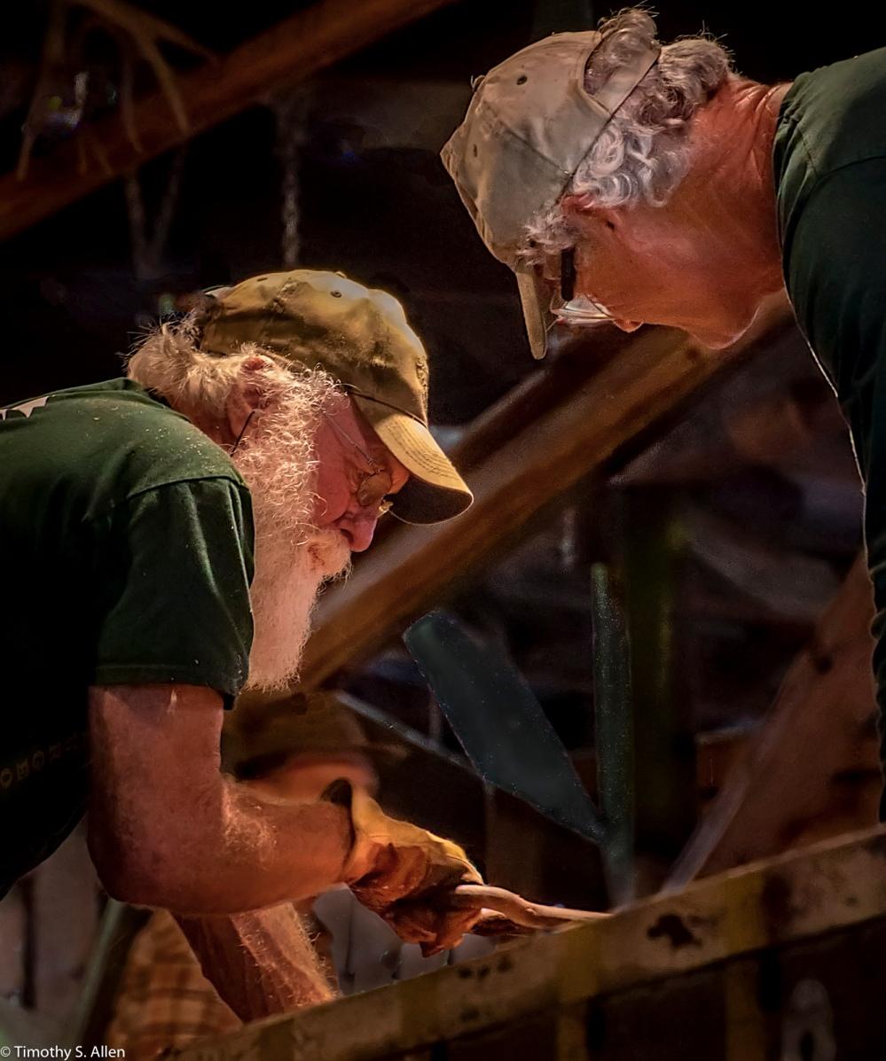 Trimming Lumber, Sturgeon's Mill, Sebastopol, CA, U.S.A., October 15, 2016