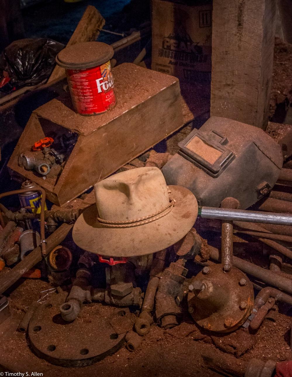 Workbench at Sturgeon's Mill, Sebastopol, CA, U.S.A., October 15, 2016