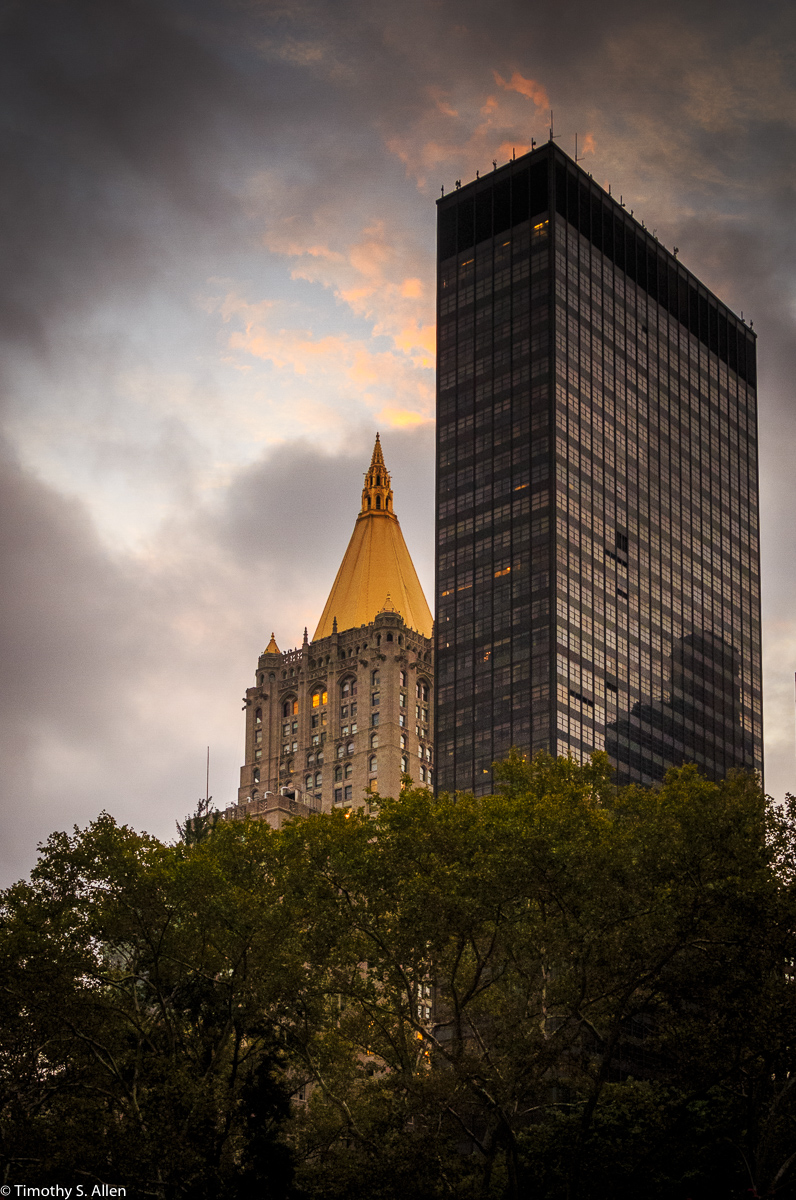 View of the Metropolitan Life Building Tower from Madison Square Park between Madison and 5th Ave at 23rd St., New York City, NY, U.S.A. - September 18, 2016