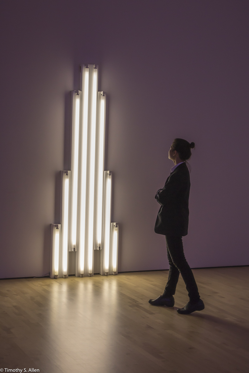 "Dan Flavin, ""monument"" for V. Tatlin, 1969 San Francisco Museum of Modern Art San Francisco, CA, U.S.A. October 7, 2016"