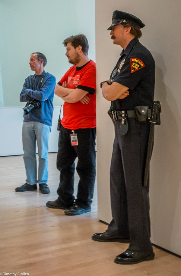 Policeman by Duane Hansen in the San Francisco Museum of Modern Art San Francisco, CA, U.S.A. October 7, 2016