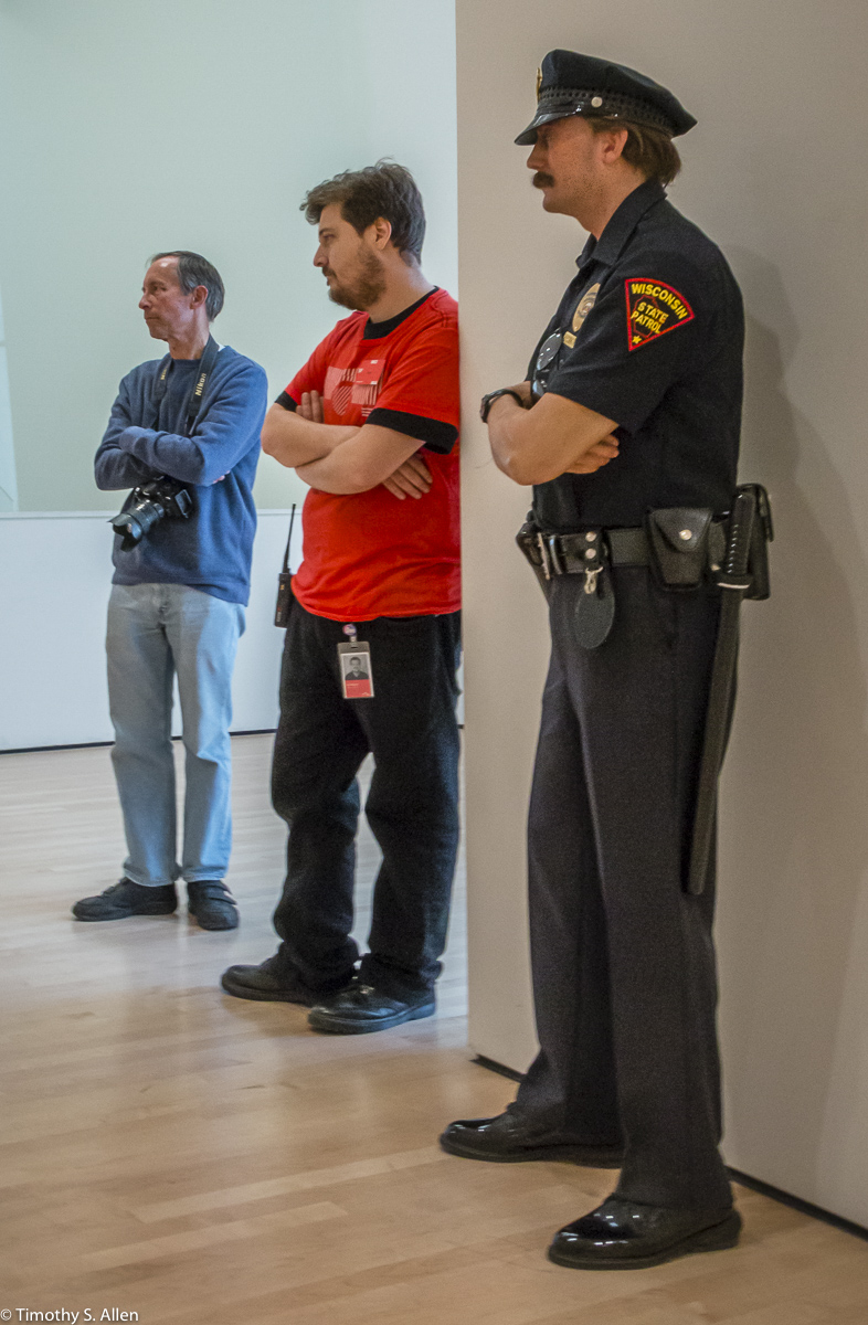 Policeman by Duane Hansen in the San Francisco Museum of Modern Art San Francisco, CA, U.S.A. October 7, 2016