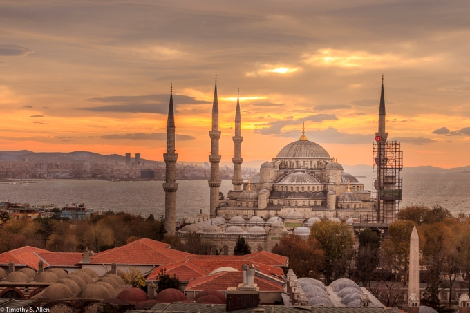 Blue Mosque - The Sultan Ahmed Mosque Istanbul, Turkey December 16, 2015
