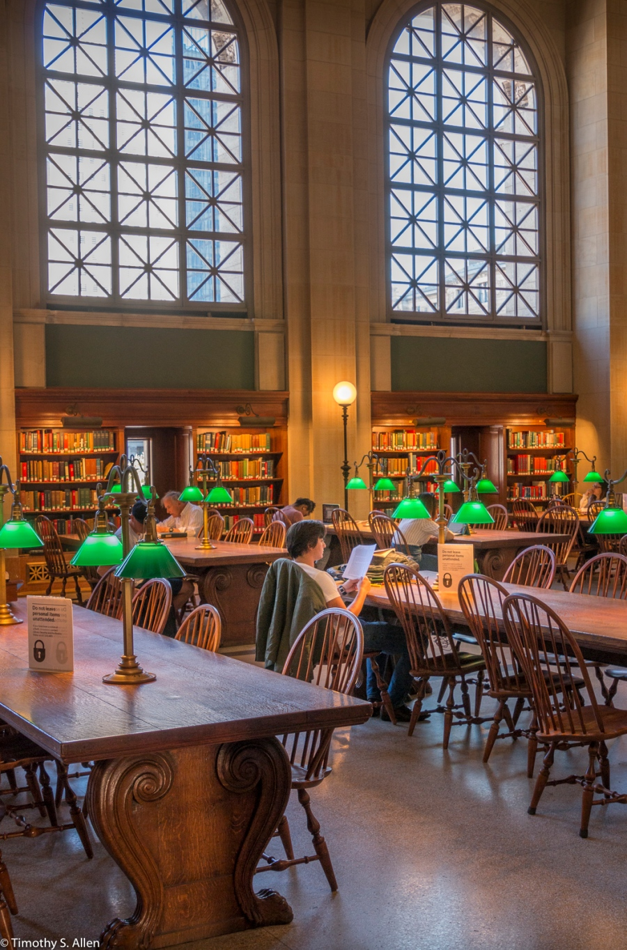 Boston Public Library Reading Room - Boston, MA., U.S.A. September 5, 2016