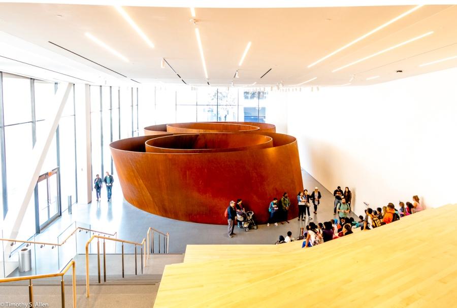 """""""Sequence"""", Richard Serra's Sculpture, San Francisco Museum of Modern Art, San Francisco, CA, U.S.A. October 7, 2016"""