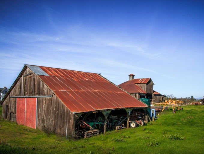 Barns on the Property of Laguna de Santa Rosa Foundation - Santa Rosa, CA, U.S.A. December 3, 2016