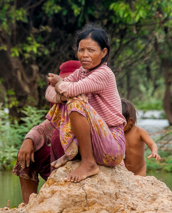 Woman from Cambodian Floating Village January 19, 2012