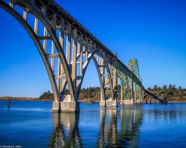 Yaquina Bay Bridge, Newport, OR, U.S.A. November 2013