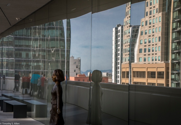 View from SFMOMA of South of Market and East of 1st Streets San Francisco, CA, U.S.A. October 7, 2016